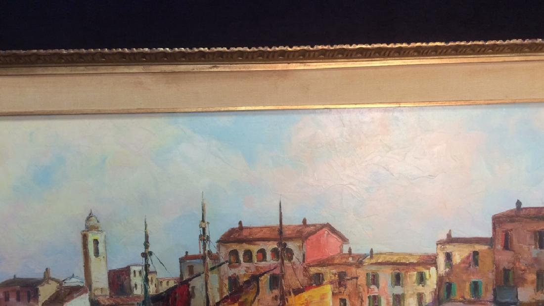 Oil Painting on Canvas Signed T. L. Novaretti Oil - 7