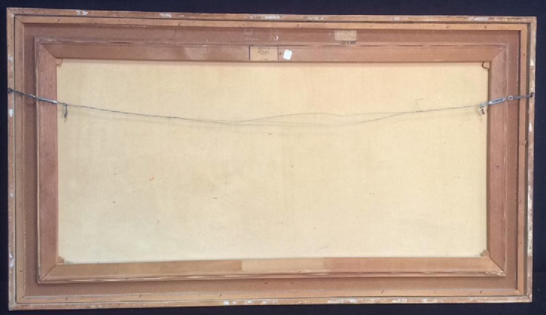 Oil Painting on Canvas Signed T. L. Novaretti Oil - 8