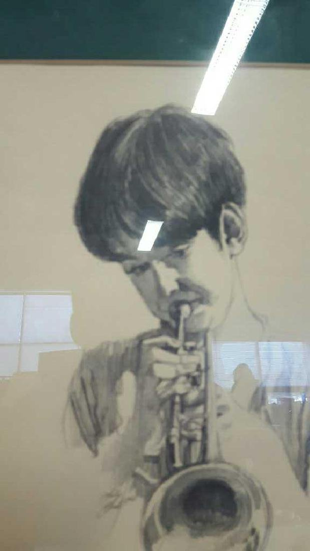 Young Musician Sketch Signed Kelly Clark Young Musician - 3