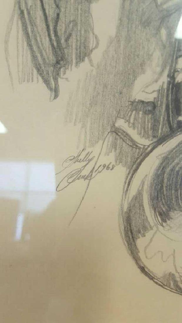 Young Musician Sketch Signed Kelly Clark Young Musician - 4