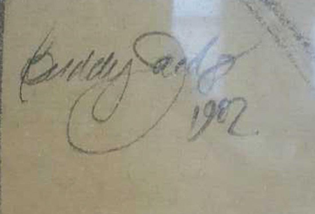 Portrait of Woman Sketch Signed Buddy Saeds Portrait of - 3