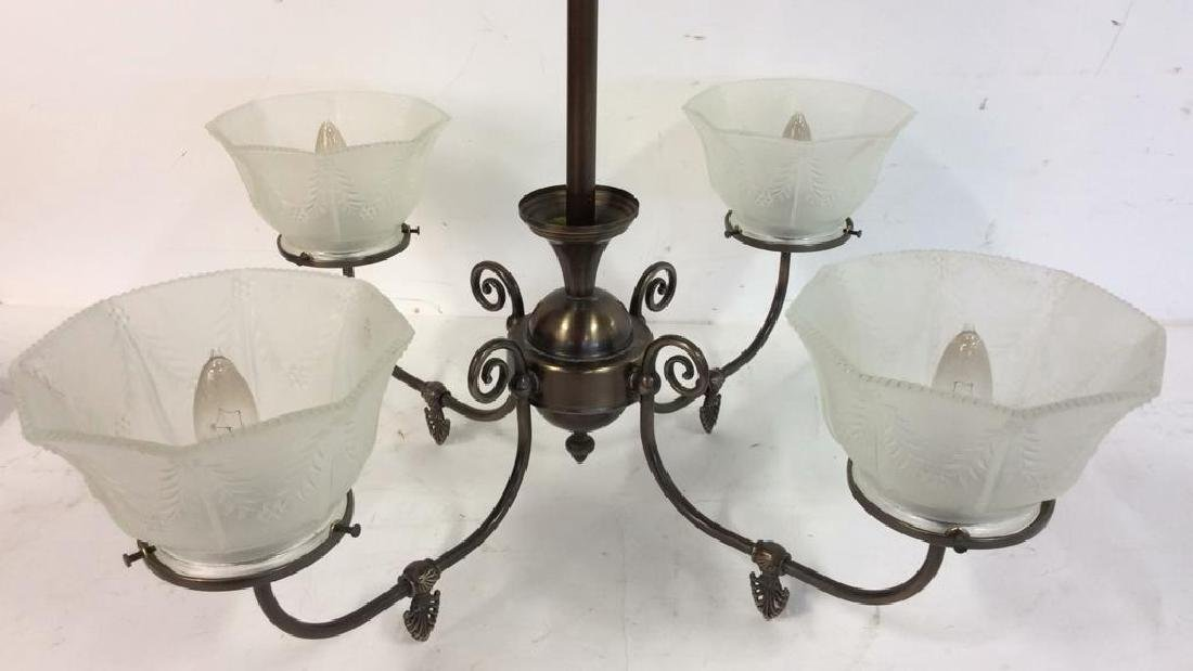 Rejeuvinations 4 Arm Metal Chandelier Scrolled arms