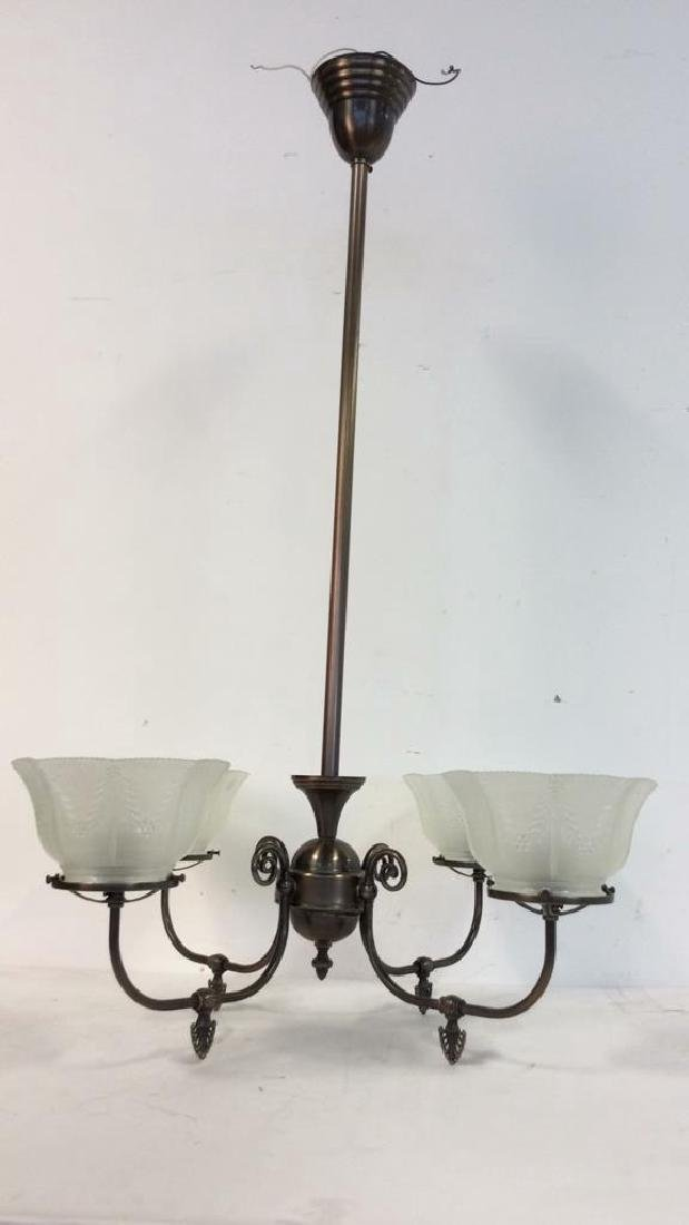 Rejeuvinations 4 Arm Metal Chandelier Scrolled arms - 2