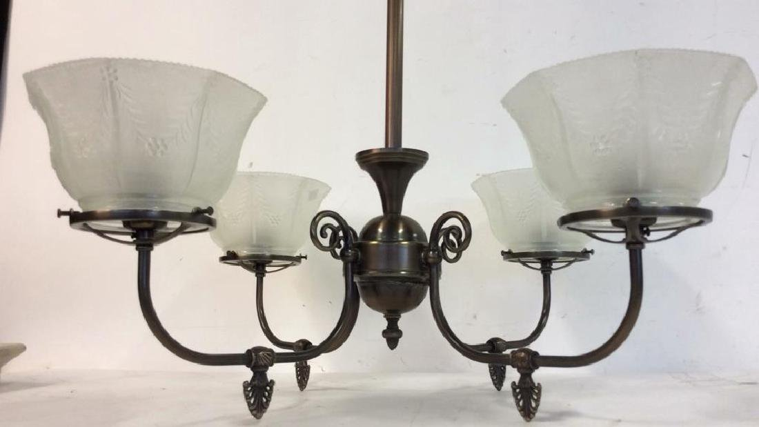 Rejeuvinations 4 Arm Metal Chandelier Scrolled arms - 3