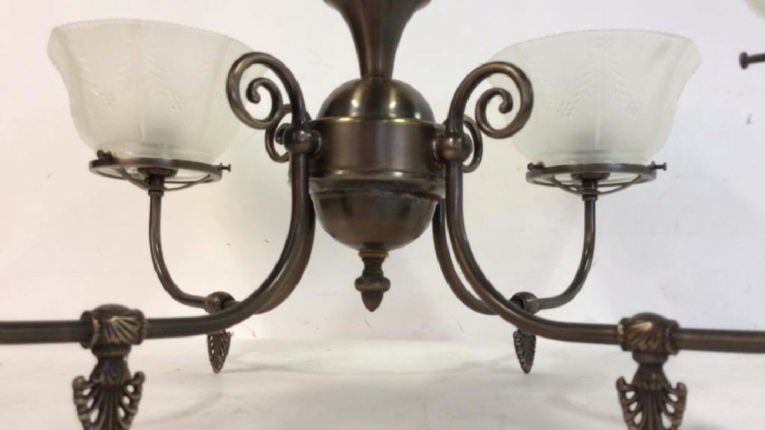 Rejeuvinations 4 Arm Metal Chandelier Scrolled arms - 4
