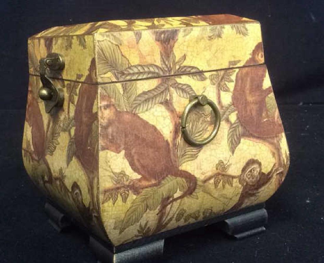 Crystal Faceted Monkey Figurine Wood Monkey Box Crystal - 2