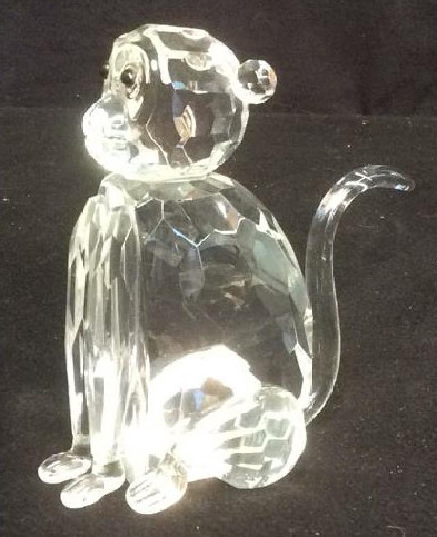 Crystal Faceted Monkey Figurine Wood Monkey Box Crystal - 4