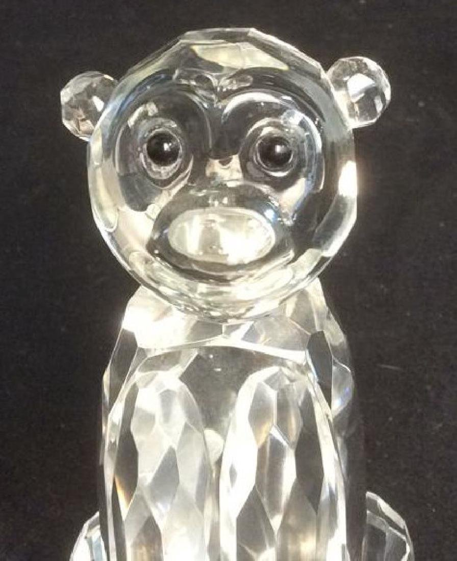 Crystal Faceted Monkey Figurine Wood Monkey Box Crystal - 5