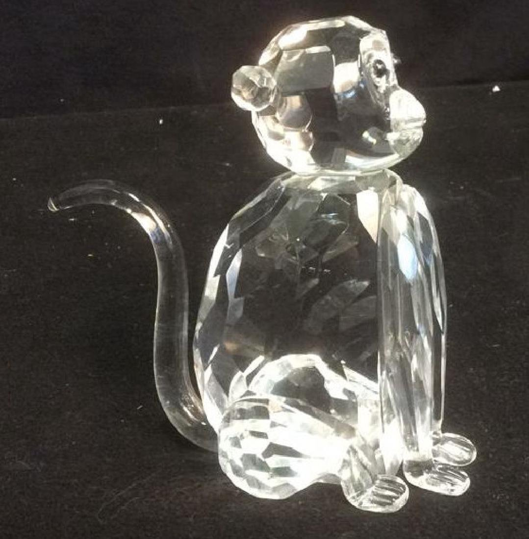 Crystal Faceted Monkey Figurine Wood Monkey Box Crystal - 6