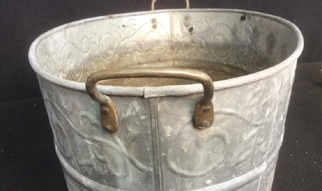 Vintage Galvanized Wash Tub With Handles Oval wash tub - 5