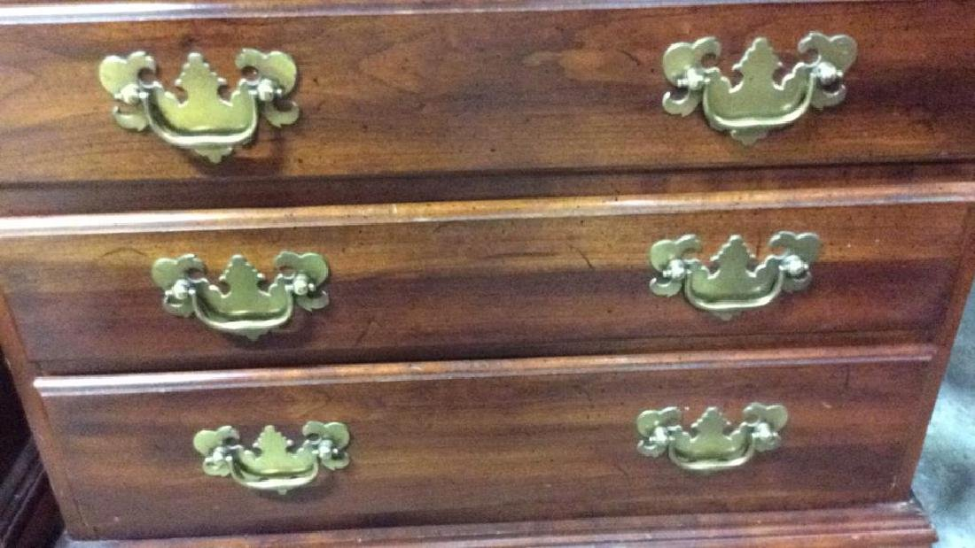 Pair Vintage Mahogany 4 Drawer chests Chests, end - 6