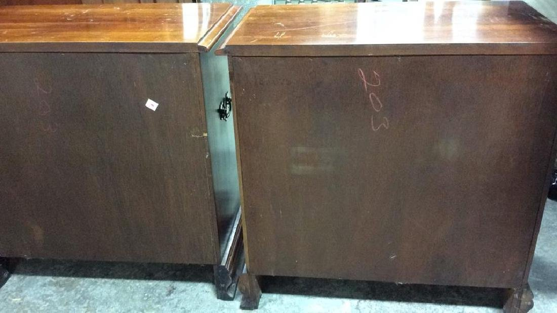 Pair Vintage Mahogany 4 Drawer chests Chests, end - 8