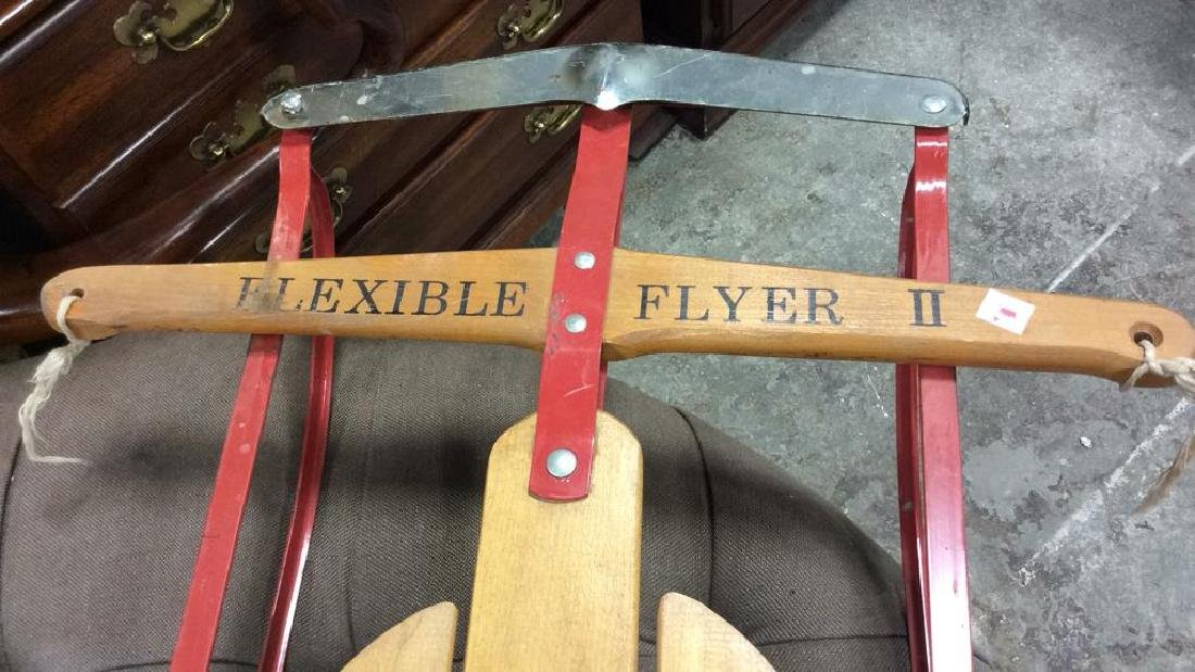 Vintage Flexible Flyer II Sled Iron and wood sled - 4