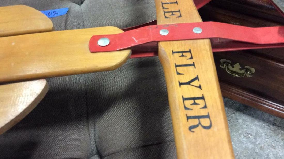Vintage Flexible Flyer II Sled Iron and wood sled - 5