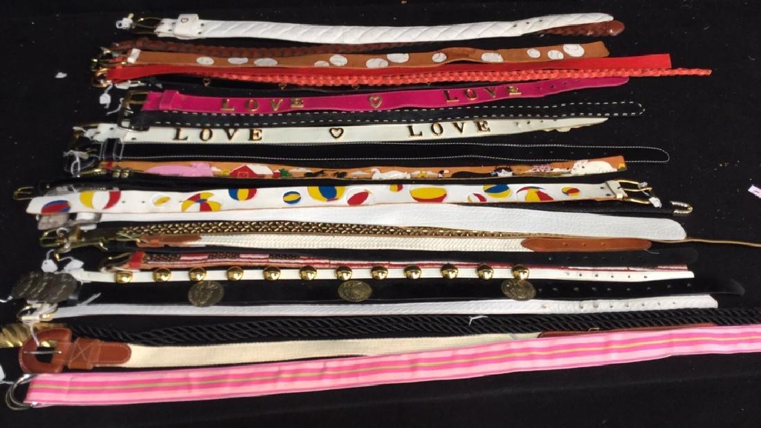 Group Lot Designer Ladies Belts Two dozen assorted