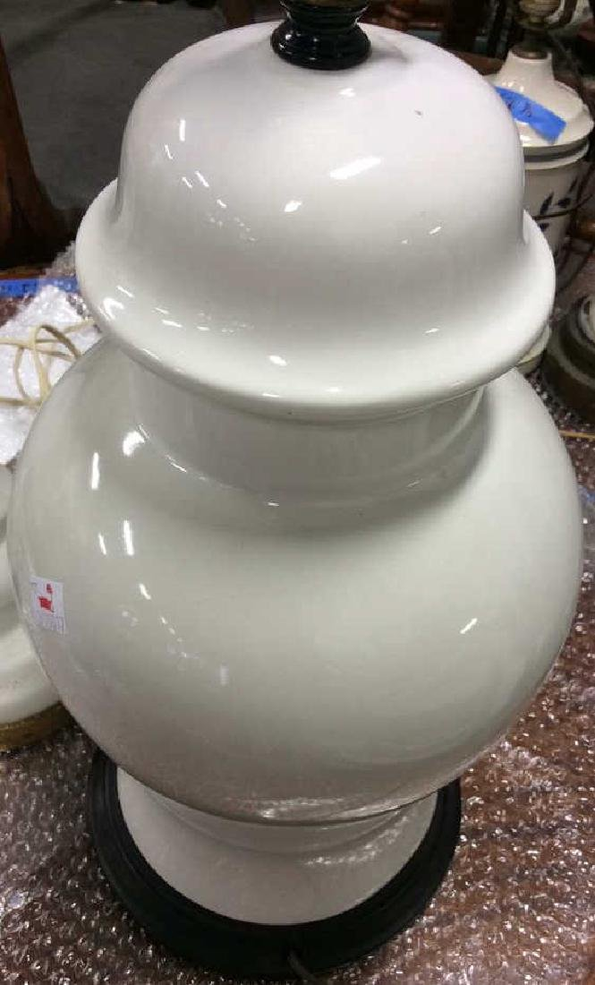 Lot of Pair and Single White Vintage lamps Pair white - 3