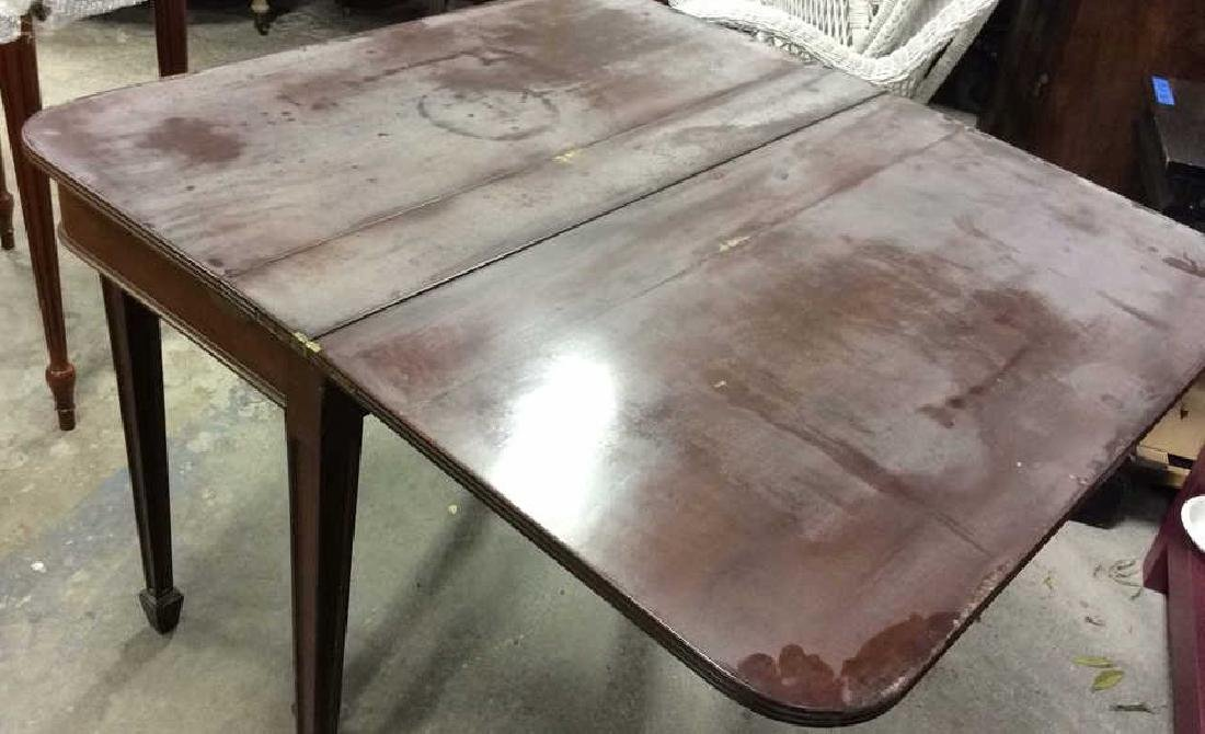 Vintage Mahogany Fold Over Dining Table Vintage - 5