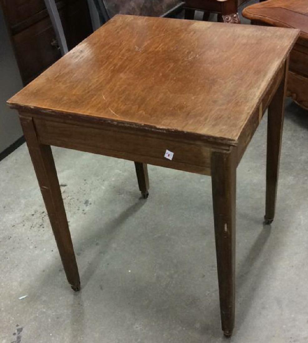 Vintage Wood Turntable on Casters Vintage wood end - 4