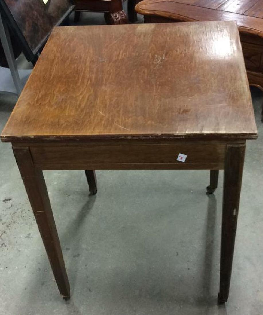 Vintage Wood Turntable on Casters Vintage wood end - 5