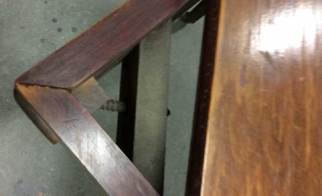 Vintage Wood Turntable on Casters Vintage wood end - 6