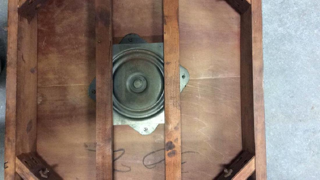 Vintage Wood Turntable on Casters Vintage wood end - 7