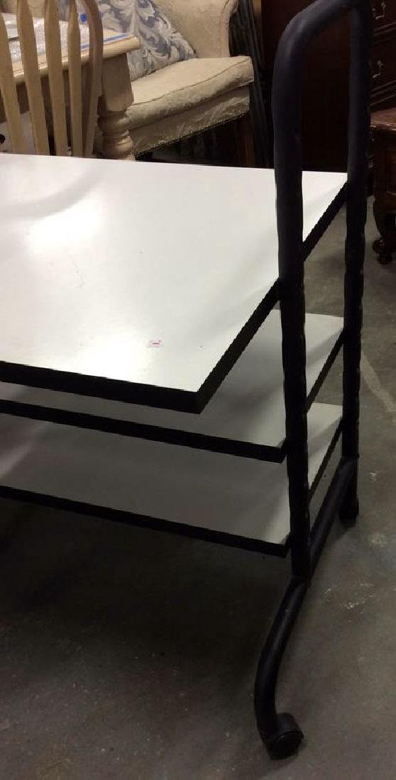 Black and White Tiered Rolling Cart Rolling cart or - 2