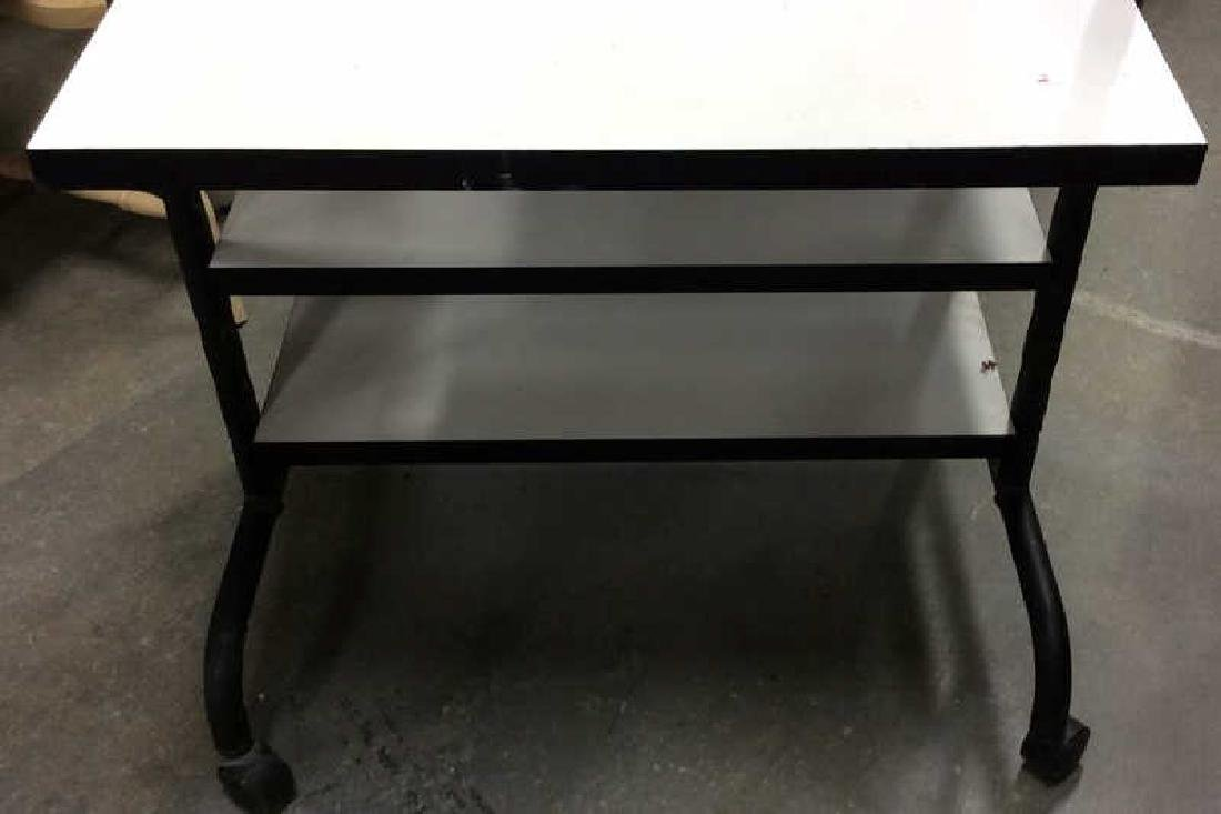 Black and White Tiered Rolling Cart Rolling cart or - 4