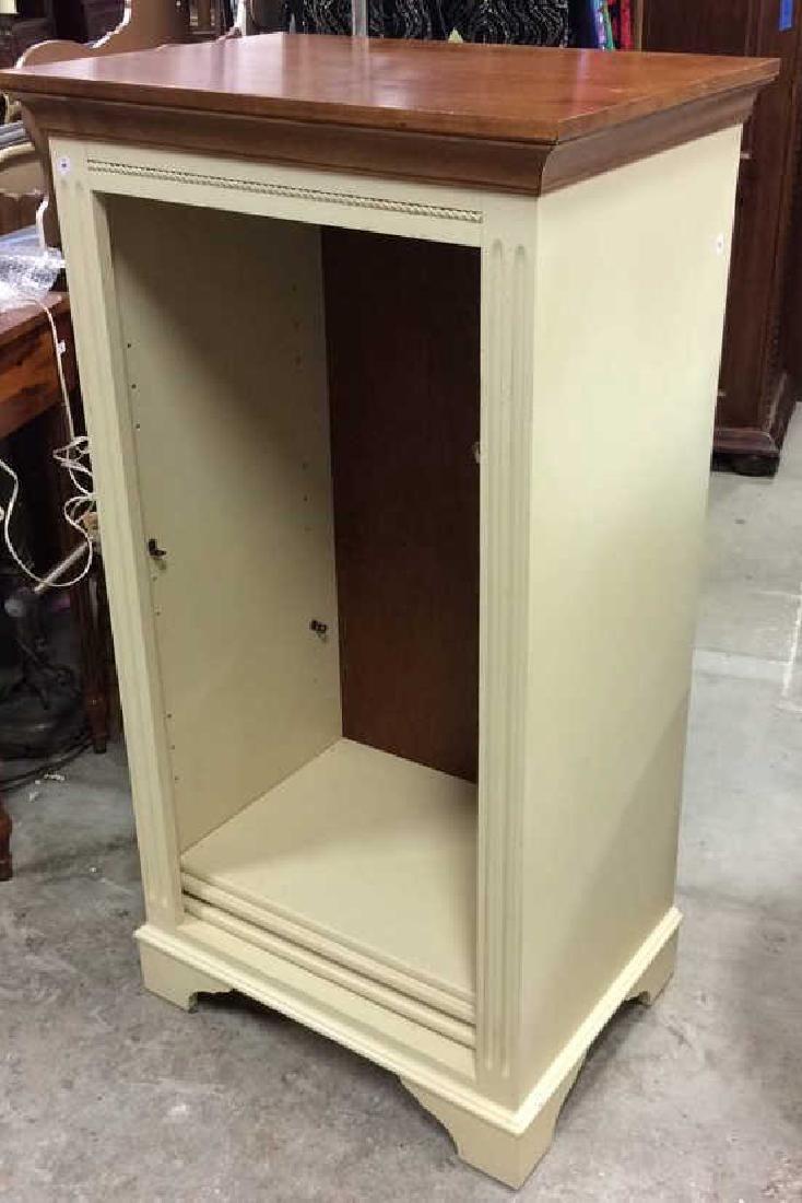 Ethan Allen Cream Pine Topped Book Shelf Display Open
