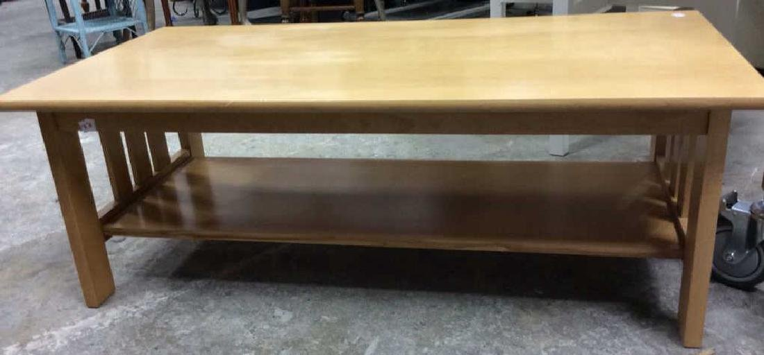 Rectangular Light Pine Coffee Table Coffee table with - 5