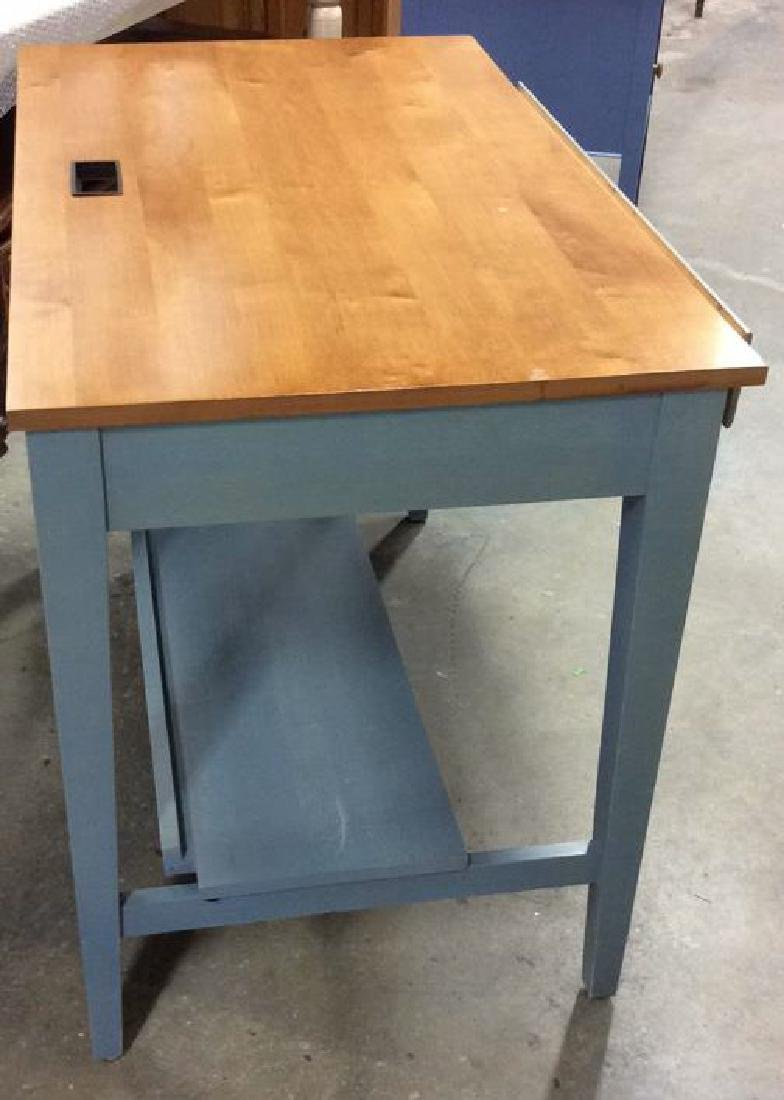 Ethan Allen Blue and Pine Desk Night Table Marked for - 10