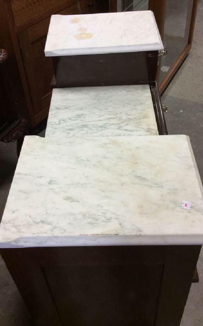 Marble Topped Antique Mahogany Dresser Dresser with - 4