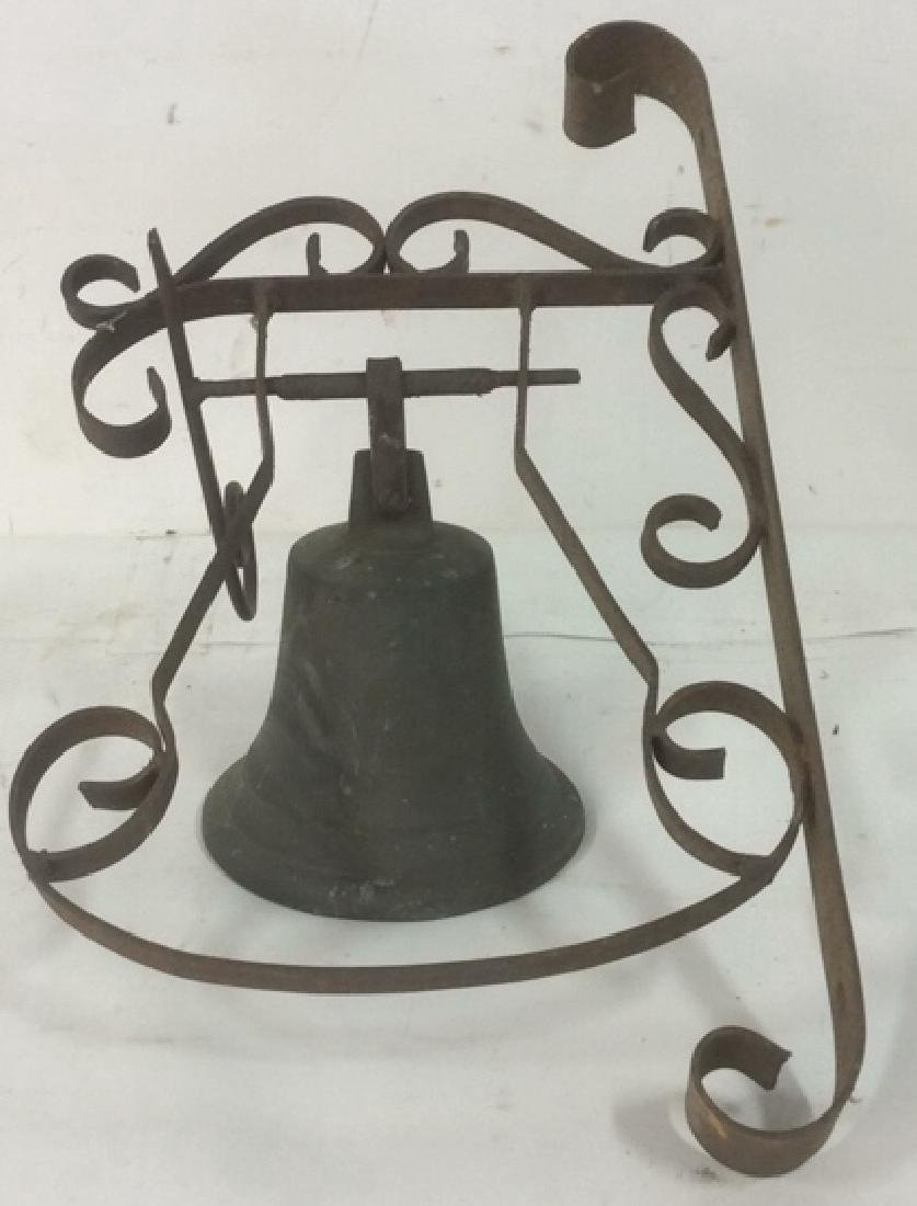 SK Goben 1916 Brass Bell with Metal Ornate Mount Brass,