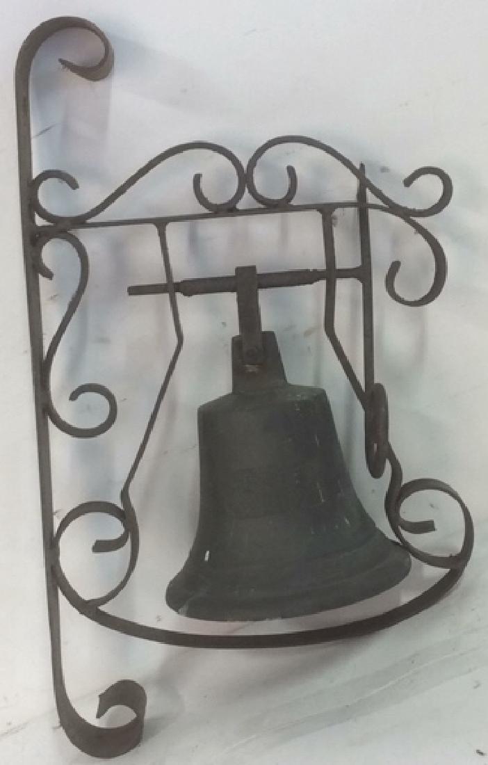SK Goben 1916 Brass Bell with Metal Ornate Mount Brass, - 6
