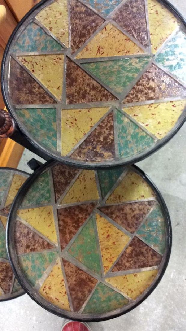 3 Tier Metal Glass Mosaic Plant Stand Plant Stand or - 3