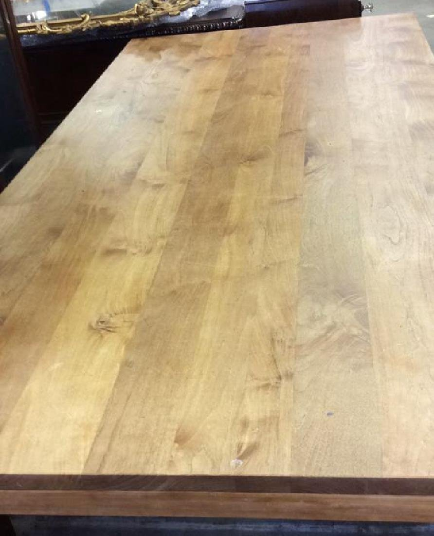 Like New Hearty Butcher Block Dining Table and Bench - 4