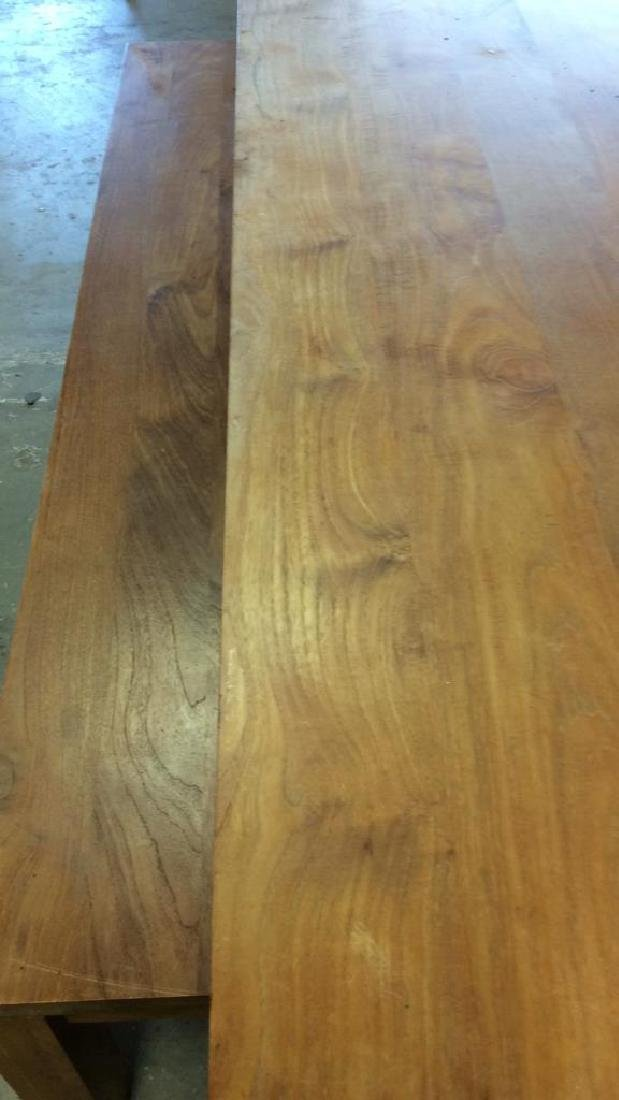 Like New Hearty Butcher Block Dining Table and Bench - 7