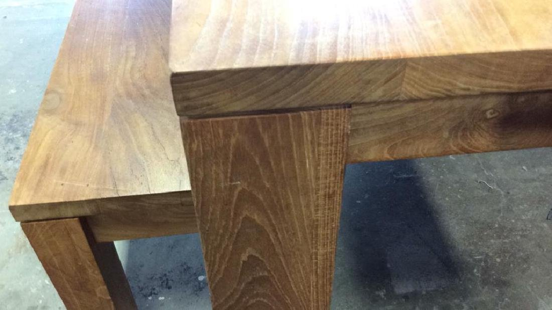 Like New Hearty Butcher Block Dining Table and Bench - 8