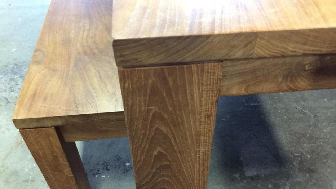 Like New Hearty Butcher Block Dining Table and Bench - 9