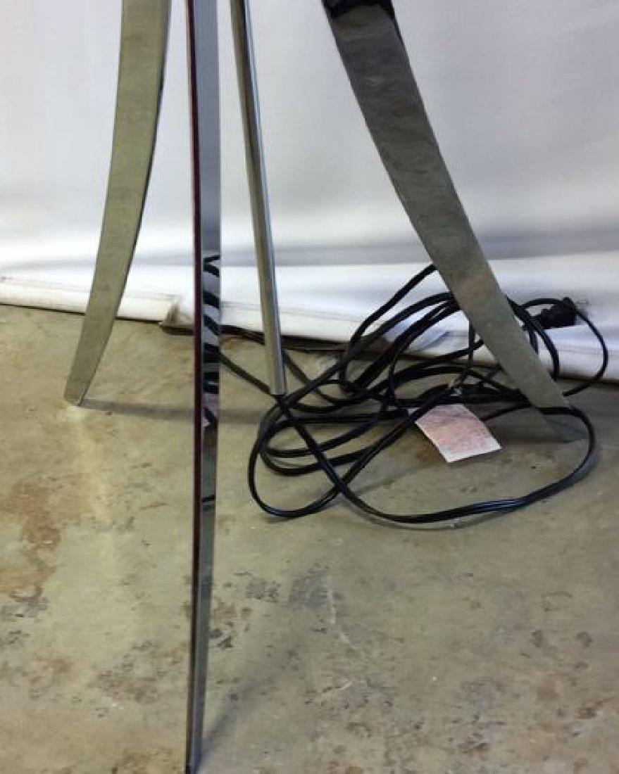 Sleek Mod Chrome Floor Lamp Chrome Floor Lamp with tri - 4