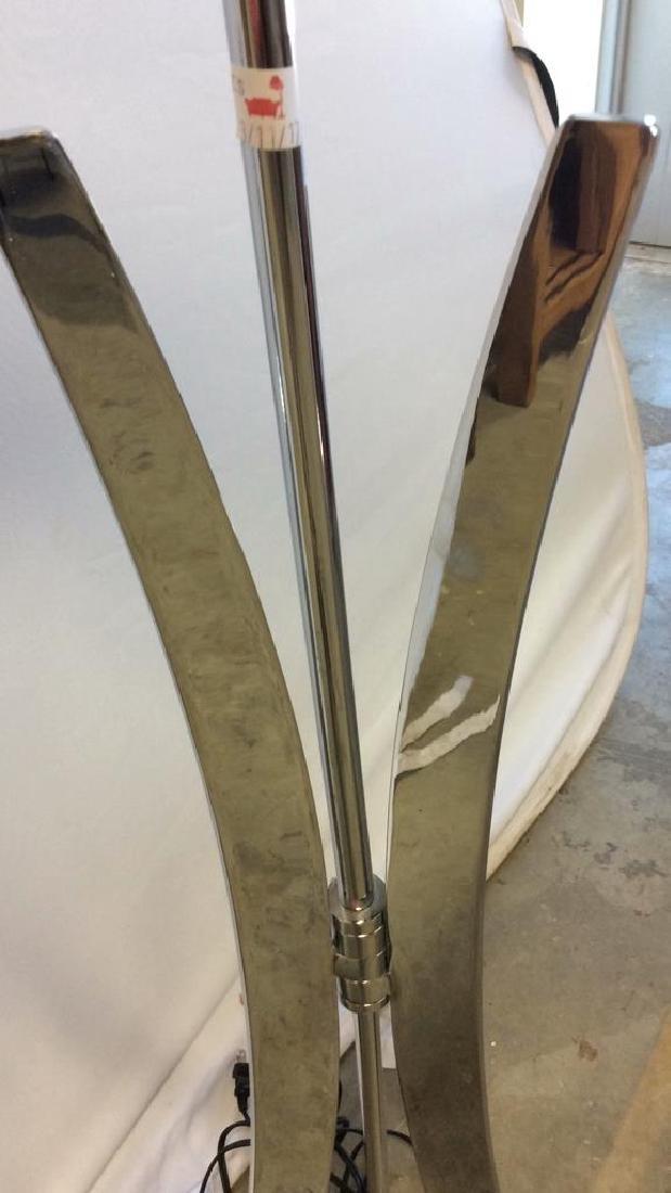Sleek Mod Chrome Floor Lamp Chrome Floor Lamp with tri - 9