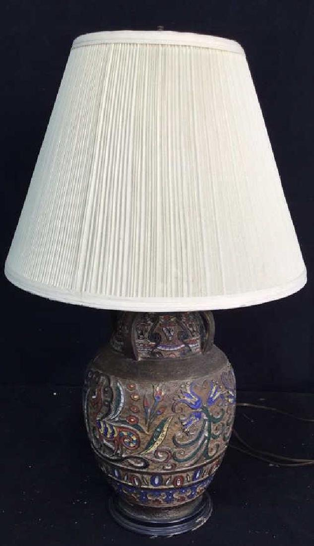Metal Handpainted Table Lamp Table lamp, metal with