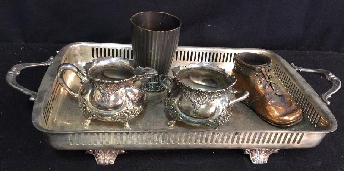 Assorted Silver Plate And Other Tabletops Decorative