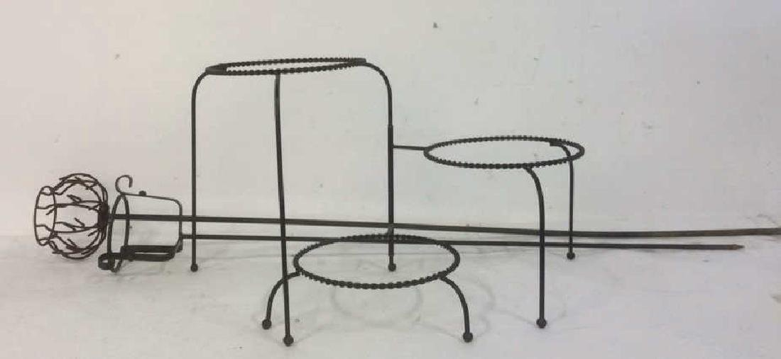 Group Metal Garden Plant Stand Candle Holders Lot of 3.