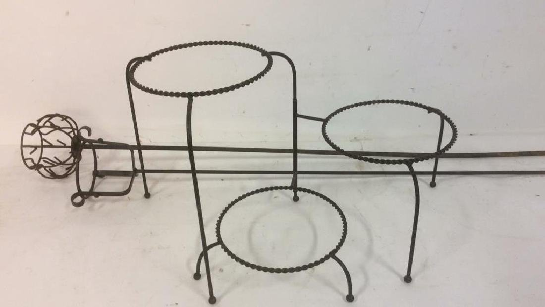 Group Metal Garden Plant Stand Candle Holders Lot of 3. - 2
