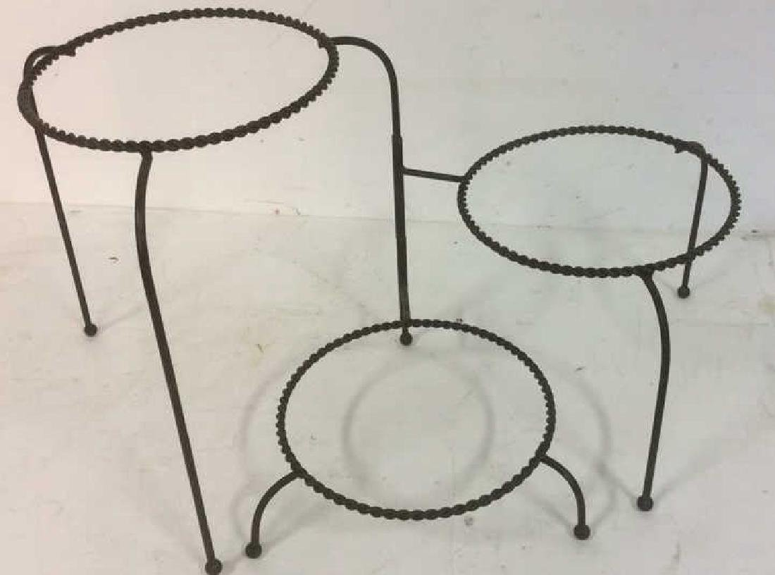 Group Metal Garden Plant Stand Candle Holders Lot of 3. - 5