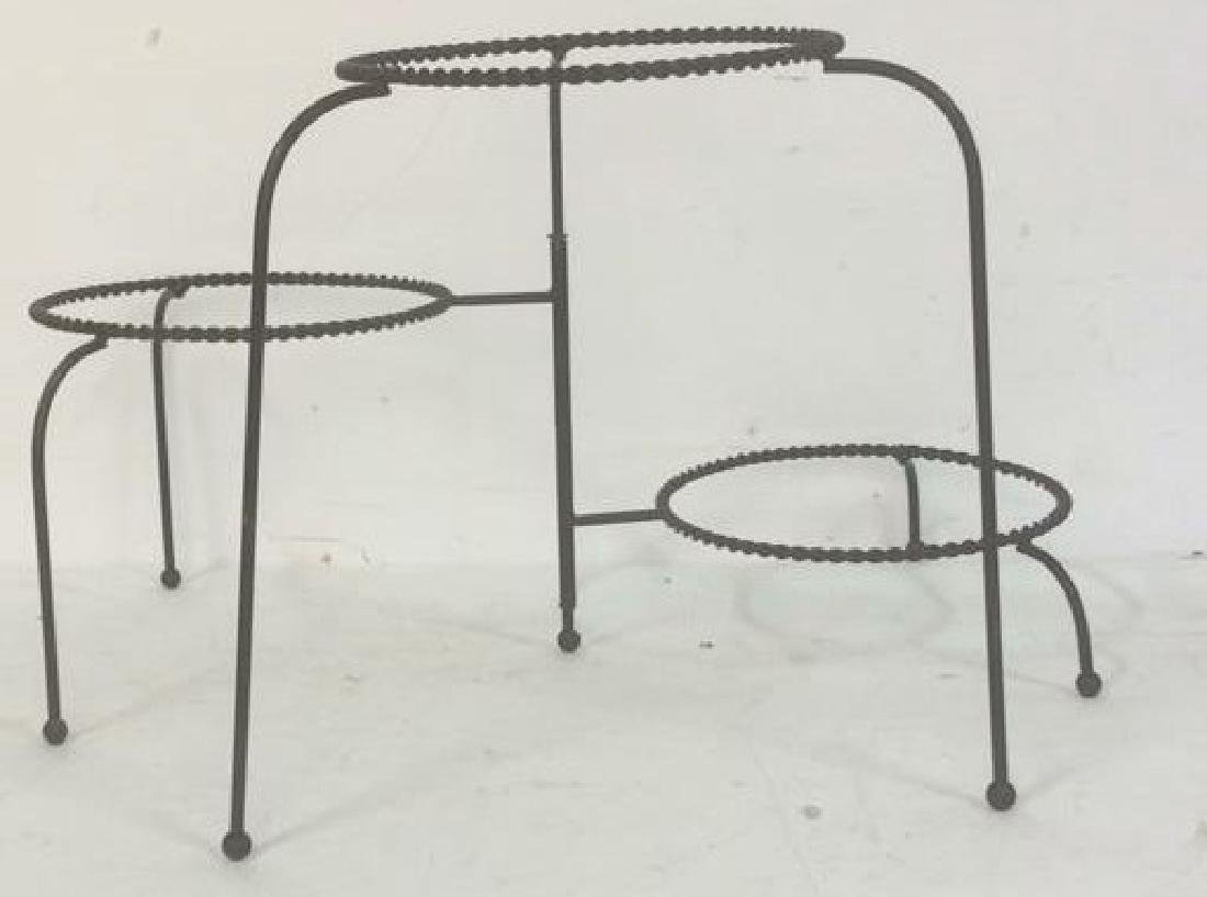 Group Metal Garden Plant Stand Candle Holders Lot of 3. - 7