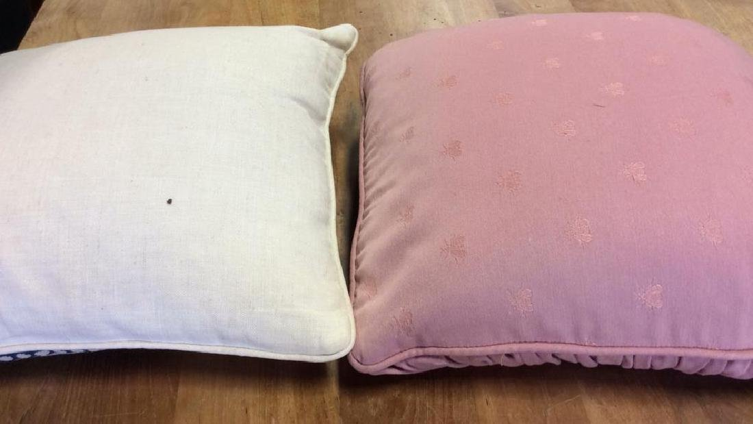 2 Needle Point Pillows One blue and white floral - 7