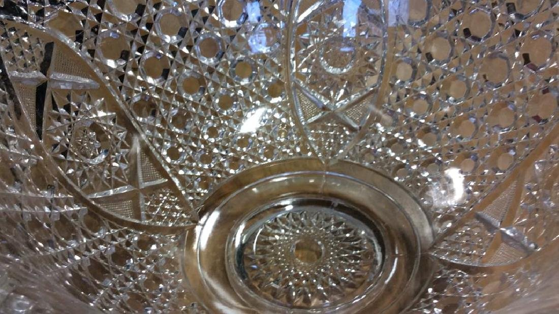 Vintage Cut Glass Punch Bowl Set Large cut glass punch - 7