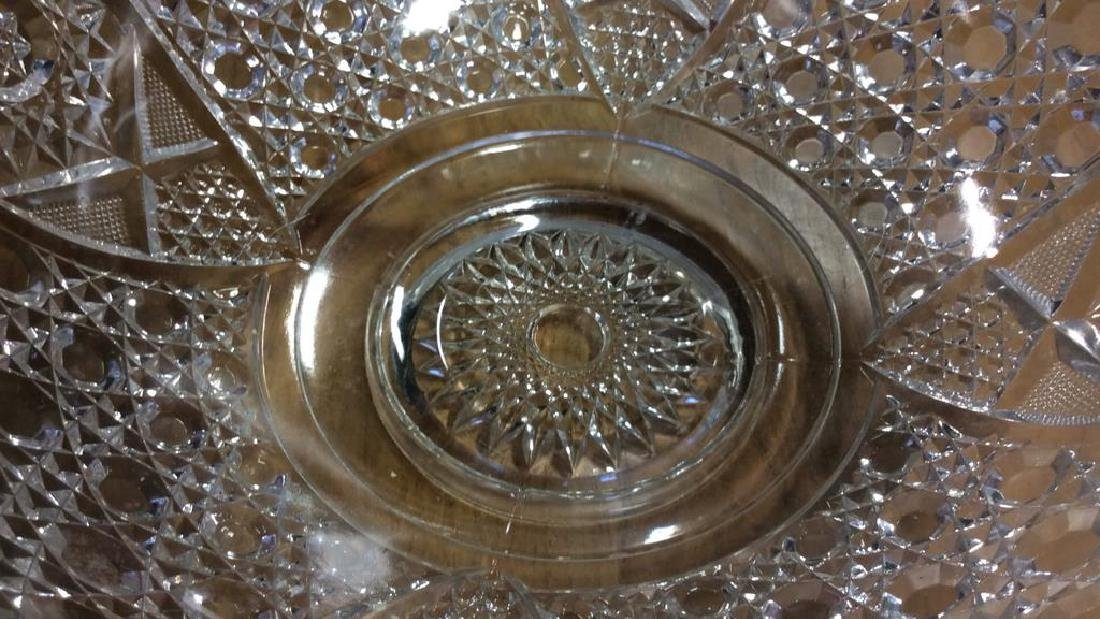 Vintage Cut Glass Punch Bowl Set Large cut glass punch - 8