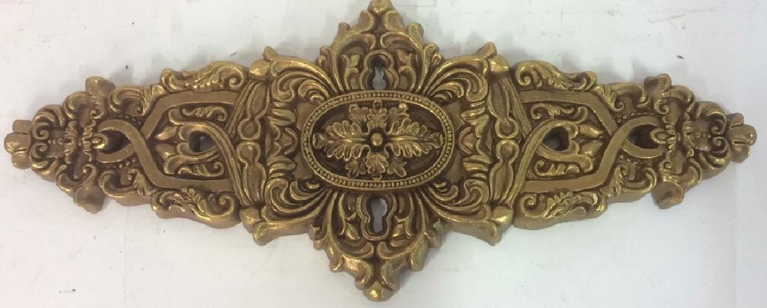 Gold Tone Painted Composite Wall Decor Ornate indoor